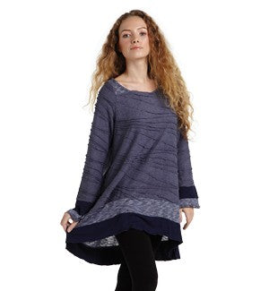 Long Sleeve Blue Tunic