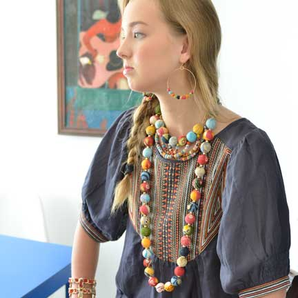 Kantha Garland Necklace