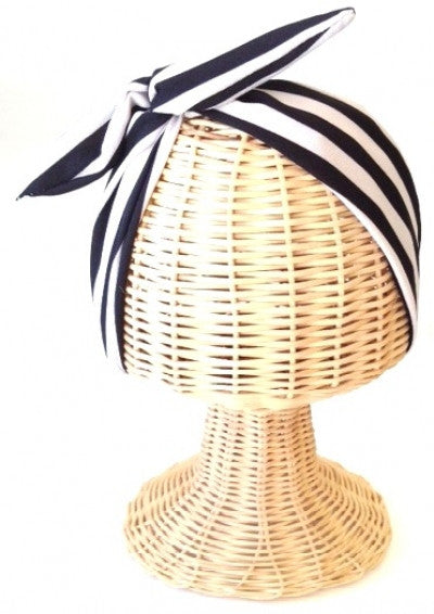 Striped Black & White Wire Headwrap