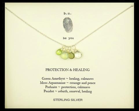 Tiny Charm Necklace: Protection & Healing