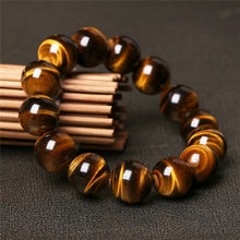 Load image into Gallery viewer, Natural Tiger's Eye Bead Stone Bracelet