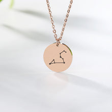 Load image into Gallery viewer, Dainty Zodiac Constellation Necklace