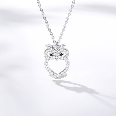 Crystal Night Owl Necklace