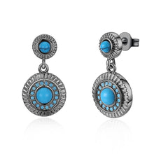 Load image into Gallery viewer, Boho Style Turquoise Earrings