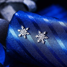 Load image into Gallery viewer, Winter Snowflake Stud Earrings