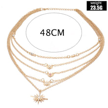 Load image into Gallery viewer, Celestial Stars Layered Necklace