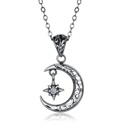 Moon Goddess Sterling Silver Necklace
