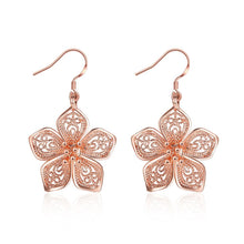 Load image into Gallery viewer, Lovely Flower Rose Gold Earrings