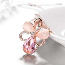 Load image into Gallery viewer, Pink Topaz Flower Necklace