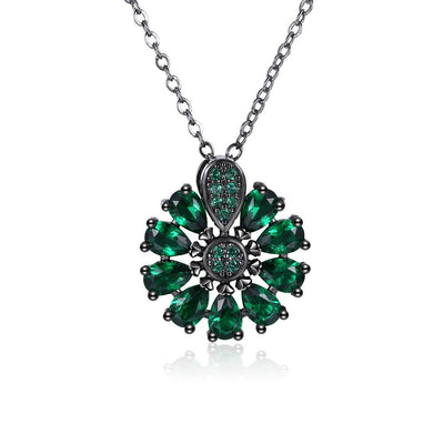 Burst Of Radiance Emerald Necklace
