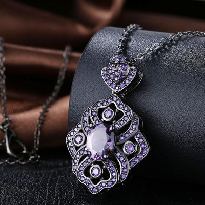 Vintage Style Amethyst Necklace