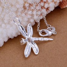 Load image into Gallery viewer, Dragonfly White Gold Necklace