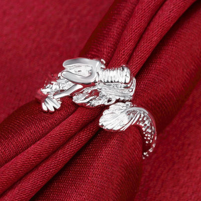Fierce Dragon Wrap Ring