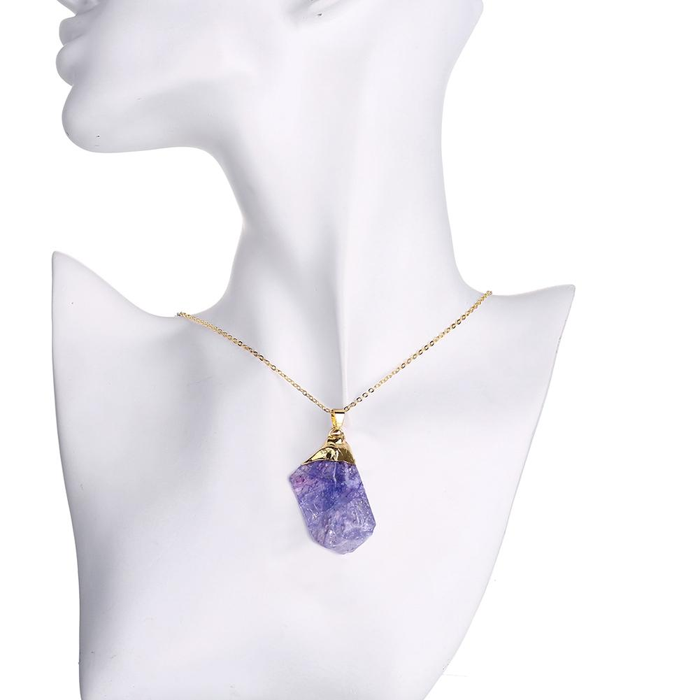 Natural Amethyst Gold Necklace