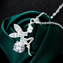 Load image into Gallery viewer, Enchanting Fairy White Gold Necklace