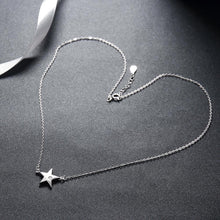 Load image into Gallery viewer, Dainty Star Sterling Silver Necklace