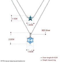 Load image into Gallery viewer, Double Stars Sterling Silver Necklace