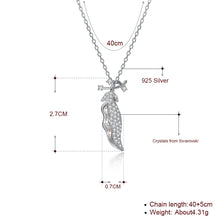 Load image into Gallery viewer, Pea Pod Sterling Silver Necklace
