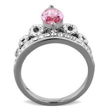 Load image into Gallery viewer, Pink Crystal Crown Royalty Ring