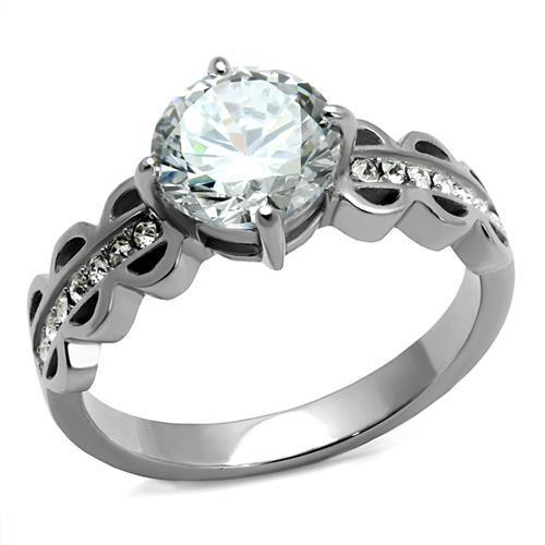 Majestic Crystal Stainless Steel Ring