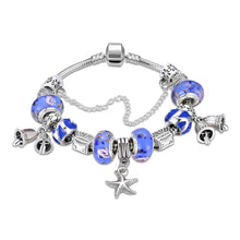 Load image into Gallery viewer, Blue Starfish Charm Bracelet