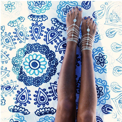 Anklet - Ethnic Multilayer Coin Tassel Anklet