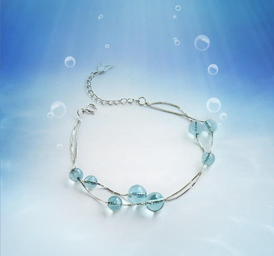 Bracelet - Mermaid Sea Foam Silver Bracelet