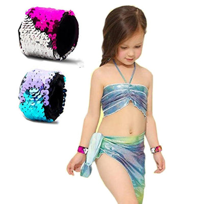 Bracelet - Mermaid Sequin Slap Bracelet