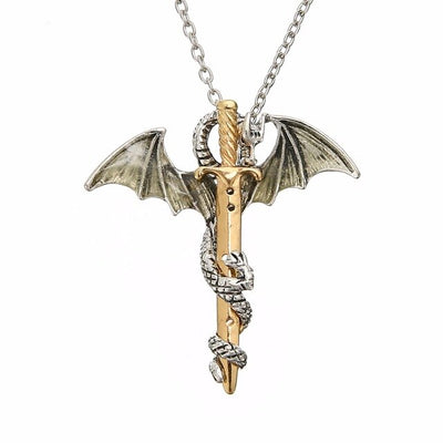 Magical Glow In The Dark Dragon Warrior Necklace
