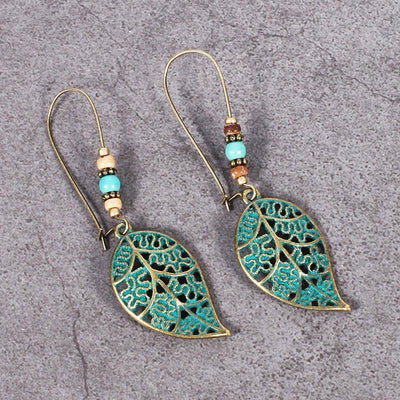 Earrings - Bohemian Style Leaf Earrings