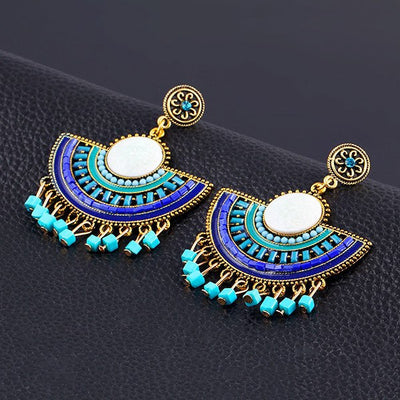 Earrings - Bohemian Style Turquoise Drop Earrings