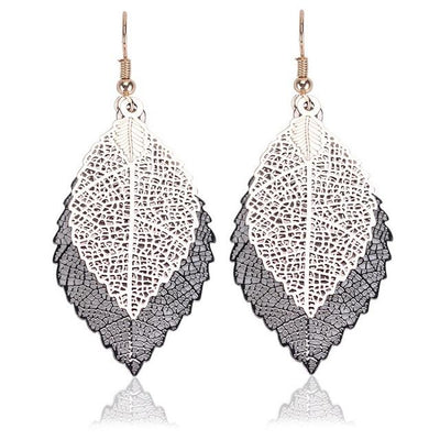 Earrings - Boho Leaves Drop Earrings