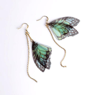Earrings - Faux Butterfly Wings Drop Earrings
