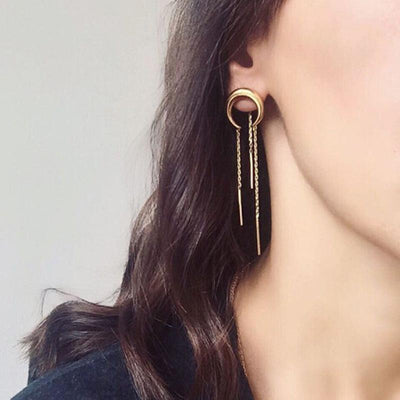 Earrings - Moon Tassel Earrings