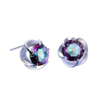 Earrings - Mystic Rainbow Silver Earrings