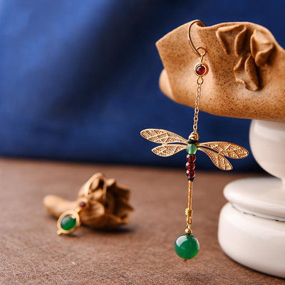 Earrings - Nature Green Dragonfly Earrings