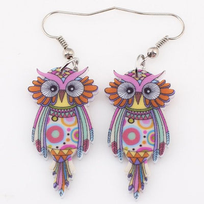 Earrings - Owl Dangle Earrings