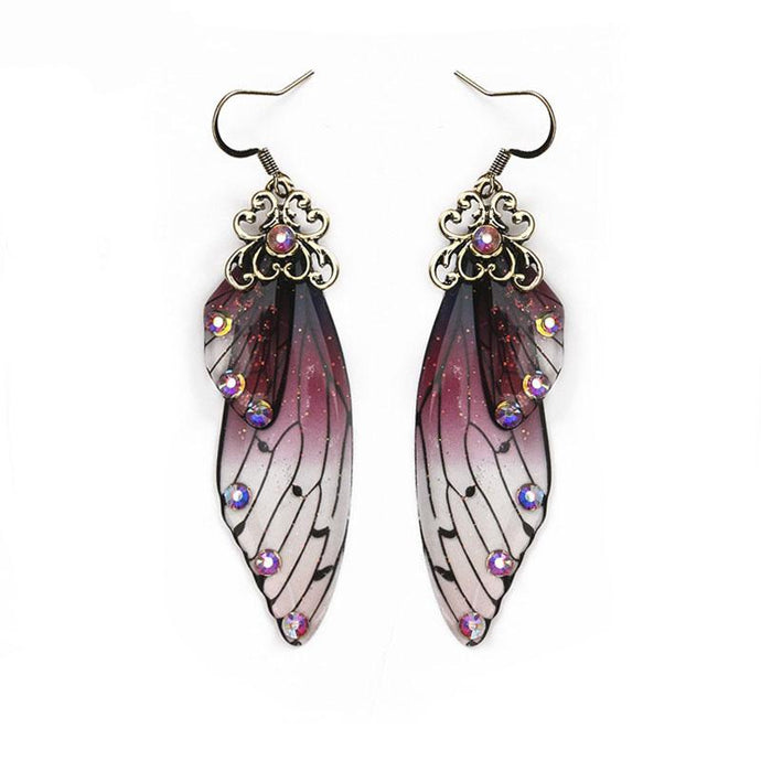 Earrings - Purple Butterfly Wings Earrings