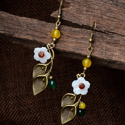 Earrings - Vintage Style Flower Drop Earrings