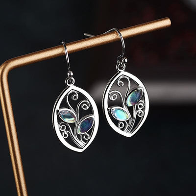 Forest Goddess Moonstone Earrings