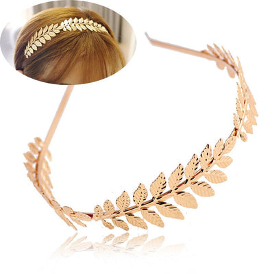 Hair Accessories - Baroque Style Leaves Headband