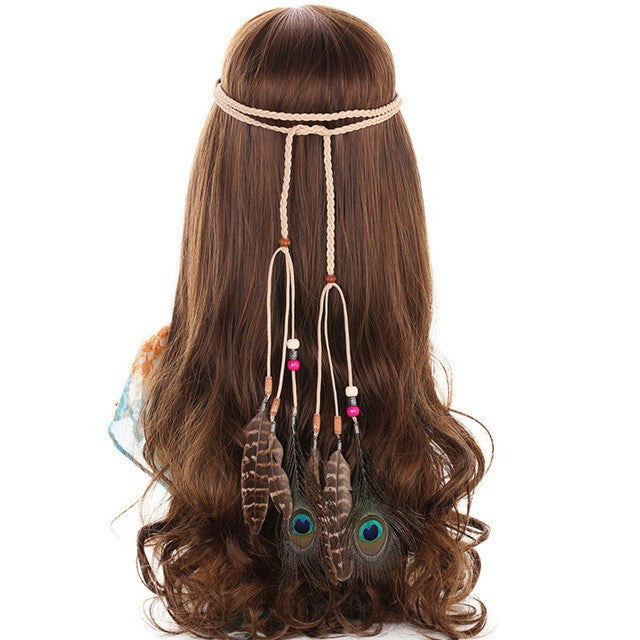 Boho Feathers Weave Hair Accessory The Enchanted Forest