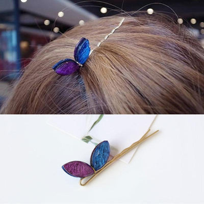 Hair Accessories - Butterfly Wings Crystal Hair Pin