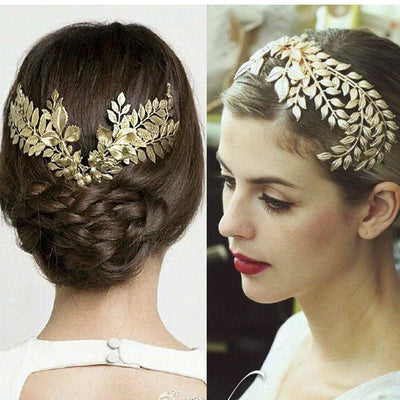 Hair Accessories - Golden Leaves Hair Jewelry