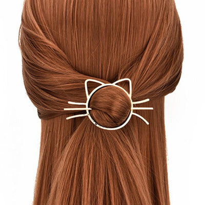 Hair Accessories - Kitty Cat Hair Barrette