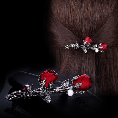 Hair Accessories - Rose Flower Hair Clip