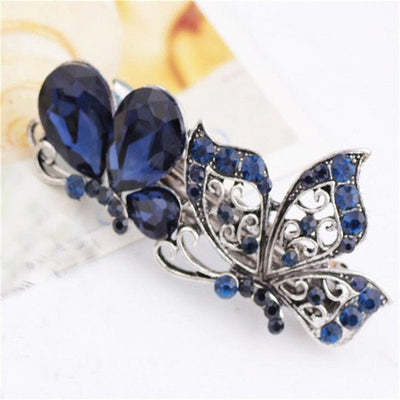 Hair Accessories - Royal Blue Rhinestone Hair Clip