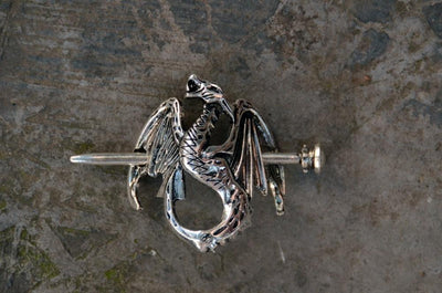 Hair Accessories - The Dragon Warrior Hair Barrette