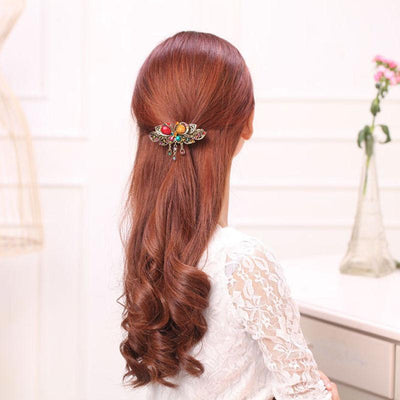 Hair Accessories - Vintage Style Crystal Butterfly Hair Clip
