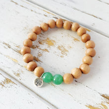 Load image into Gallery viewer, Aventurine & Sandalwood Tree Of Life Bracelet